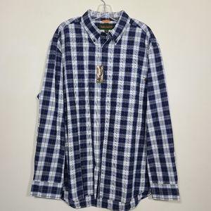 Timberland Plaid Button Down Mens Shirt Size XL.